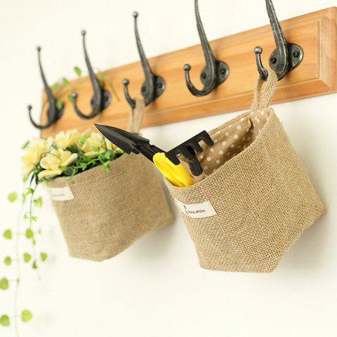Double-sided Ear Cotton Linen Hanging Bag - 001