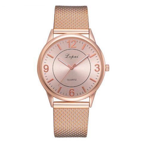 Lvpai P730 Brand Watch Fashion Trend Alloy Big Dial Watch - DEEP PEACH