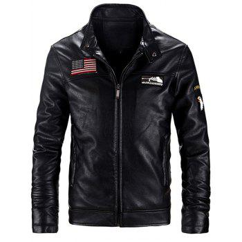 Image of 1527 315B Men s Jacket Washed Leather Plus Velvet