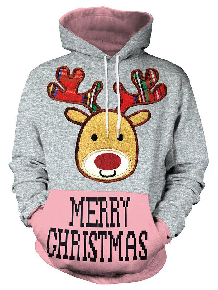 Christmas Women's Loose Casual Hoodies - multicolor A 2XL