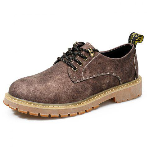 Men's Oxford Shoes Casual Soft Comfortable - COFFEE EU 41