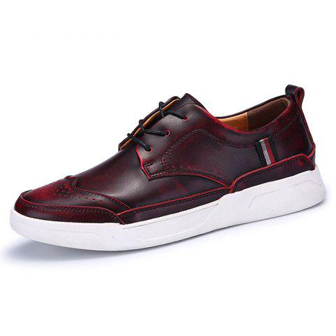 Men's Oxford Shoes Casual Trend - DEEP COFFEE EU 40
