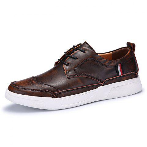 Men's Oxford Shoes Casual Trend - LIGHT BROWN EU 42