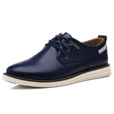 Men's Oxford Shoes Comfortable Casual - DEEP BLUE EU 43