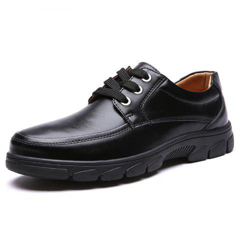 Men's Oxford Shoes Soft Wild Casual - BLACK EU 39