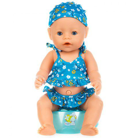 43cm Reborn Baby Swimsuit Set Clothes - BLUE
