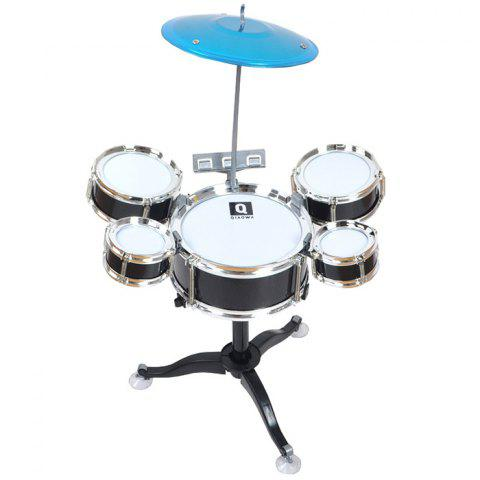 Children's Percussion Instrument Jazz Drum Combination Set - BLACK
