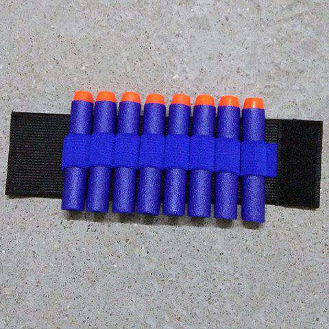 Toy Gun PA Bullet Wristband for Nerf Gun Soft Holder Professional Player Accessories Outdoor Game Equipment - BLUE