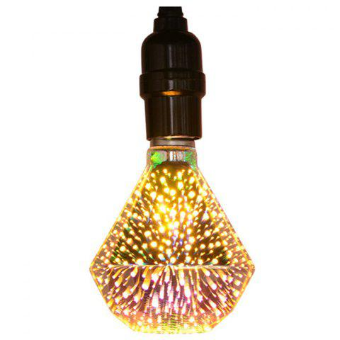 Edison Ampoule de Feu d'Artifice Coloré 3D à LED de Verre - Transparent