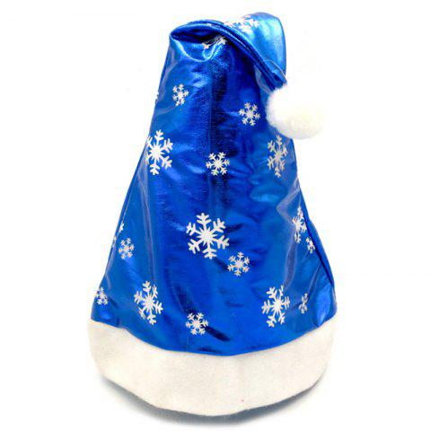 Children's Adult Snowflakes Christmas Hat - BLUE