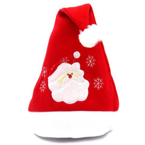 Men's Christmas Flannel Embroidered Christmas Hat - multicolor A SANTA CLAUS