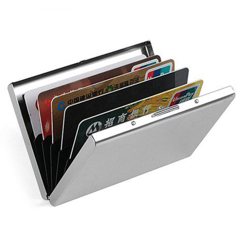 Men Multi-function Card Holder Credit Card Box - SILVER