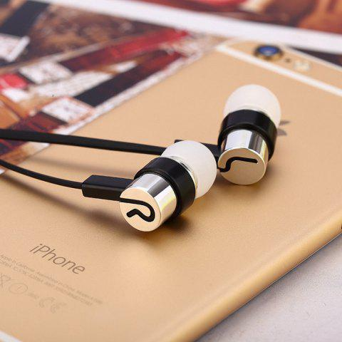 In-ear Earphones Noodle Line Bass for MP4 / MP3 - SILVER