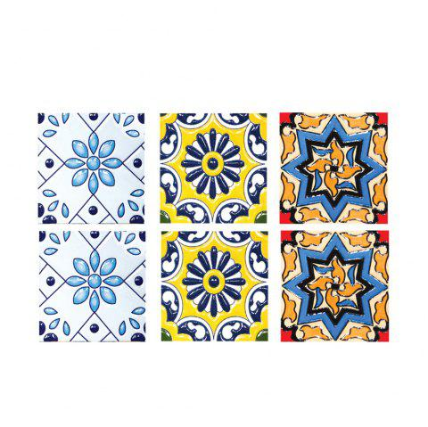 714 High Quality Tile Stickers 6pcs - multicolor A