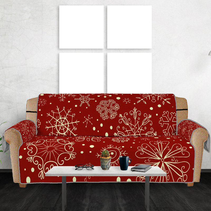 Snowflake Multipeople Sofa Mat - RED WINE