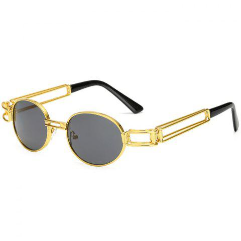 Sunglasses Fashion Round Frame Classic Metal Retro - multicolor A