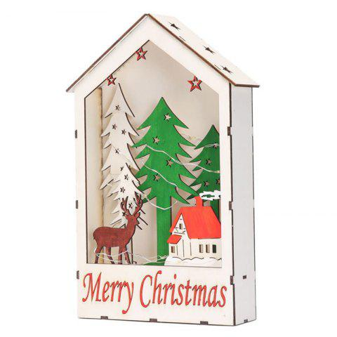Christmas Decorations Color Window House Gifts Shopping Mall Window Set Children's Toys - multicolor B