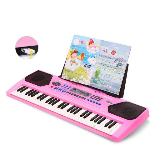 54 - key Multi - function Children Toy Piano Baby Gift Upgrade USB Version - PINK