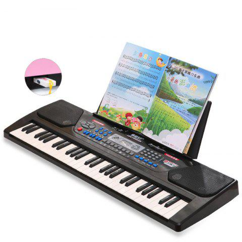 54 - key Multi - function Children Toy Piano Baby Gift Upgrade USB Version - BLACK