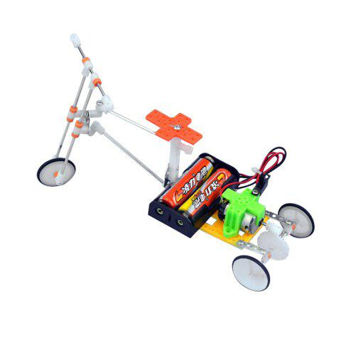 Handmade DIY Electric Bicycle Model Children Educational Toy - multicolor A