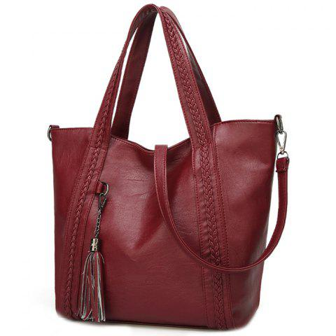 Women's Handbag Fashion Korean Version Tassel - RED WINE
