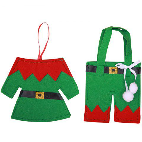Christmas Decoration Creative Household Items Cutlery Cover - GREEN