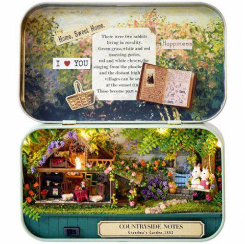 Creative Old Times Trilogy DIY Handmade Cabin Boutique Doll House Box Set - multicolor A COUNTRYSIDE NOTE