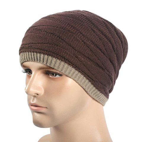 Outdoor Warm Autumn And Winter Plus Cashmere Hat - COFFEE DOUBLE SIDED