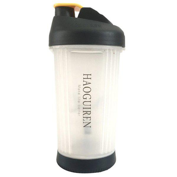 Convenient Hand-operated Leakage Protective Gear Mixing Cup - BLACK