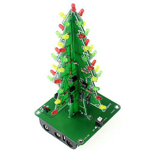 DIY Christmas Tree LED Flash Kit 3D Light - MEDIUM SPRING GREEN THREE COLORS LIGHT