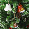 Christmas Decoration Creative Painted Wrought Iron Bell Pendant - RED