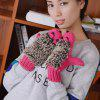 Cartoon Hedgehog Even Fingers Gloves - BATTLESHIP GRAY ONE SIZE