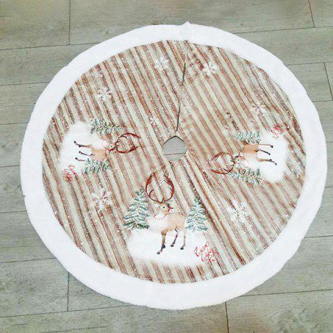 Beautiful Flannel Christmas Tree Skirt Bottom Decoration 98cm - APRICOT