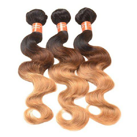 3 - J0L4_5 - W7.2.34 Gradient Real-life Wig Curly Tri-color Hair Curtain - multicolor A
