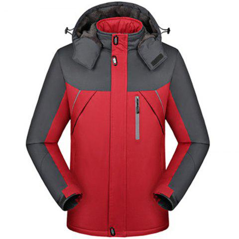 Warm Winter Sports Jacket for Men - RED 2XL