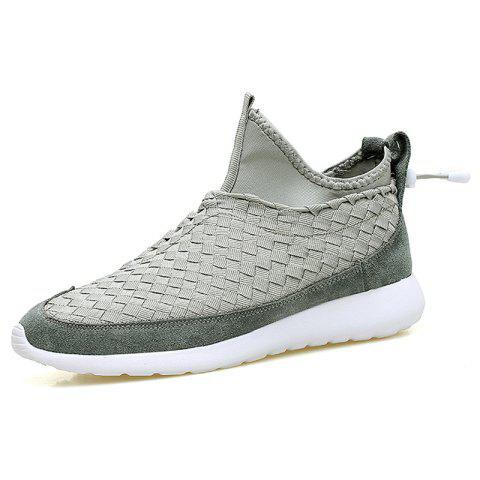 Hand Knitting Sport Casual Shoes - GRAY EU 43