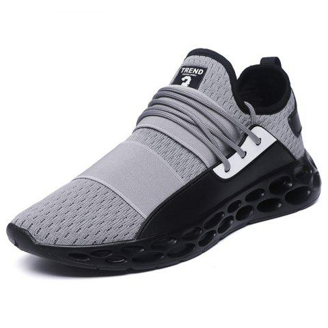 PU Sport Casual Shoes - GRAY EU 40
