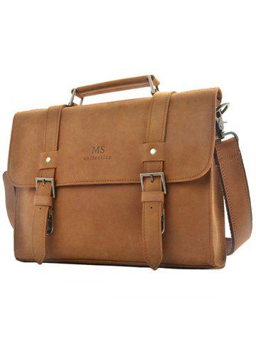 9615a2ccaf48 MISFITS 8004 Retro First Layer Leather Business Briefcase Handbags Cross  Section Shoulder Bag