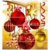 Christmas Home Decoration 3D Stairs Stickers Self-adhesive HD Steps Removable Wall Stickers 6PCS - multicolor A 1 SET