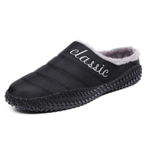 Men  's Slipper Durable Keep Warm - Noir EU 43