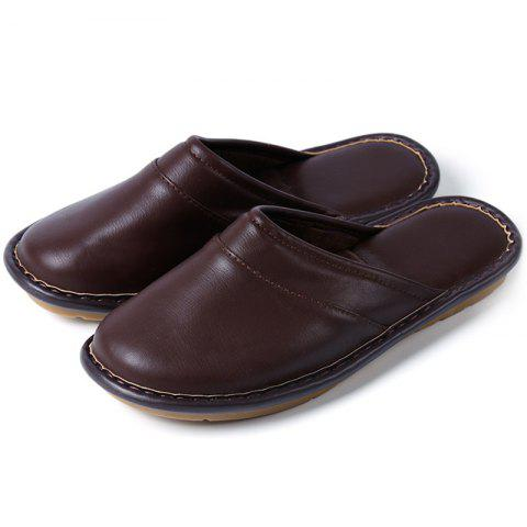 Chaussons Gluten Bottom Cotton Leather - marron foncé EU 40