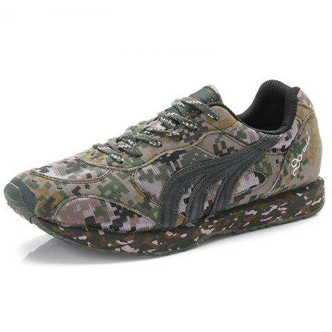 Camouflage Training Shoes Men's Sneaker - CAMOUFLAGE GREEN EU 40