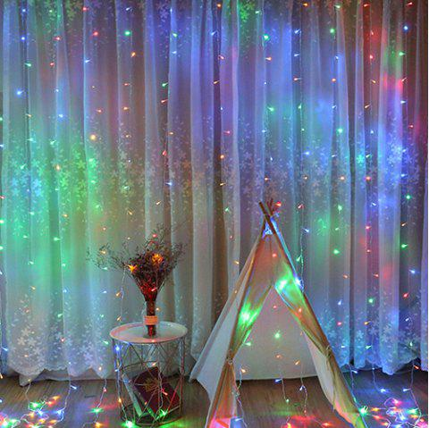 3x3 M Curtain LED Light String Ice Bar Pendant  220V Christmas Wedding Party Window Background Decoration Lamp - multicolor A