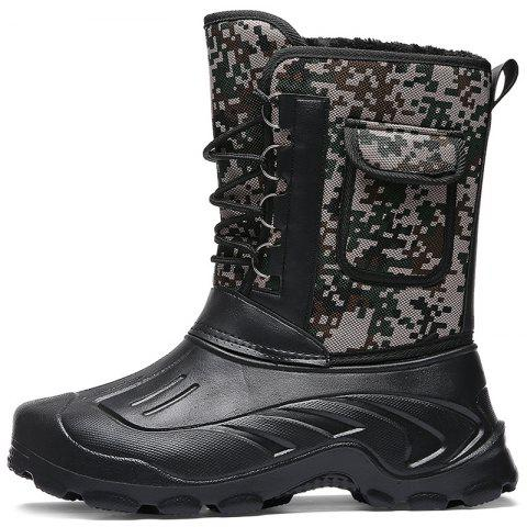 Male High-top Waterproof Boots - DEEP SKY BLUE EU 43