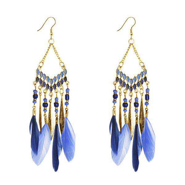 Personality Tassel Earrings - BLUE