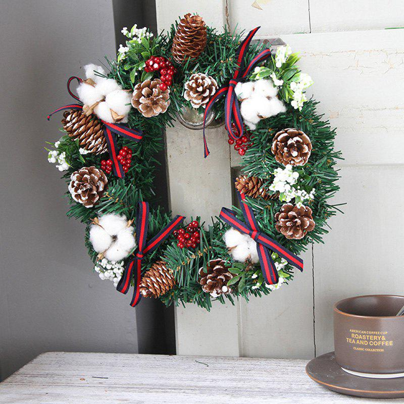 30cm Creative Wreath Home Decoration Christmas Day Exquisite Door Hanging Window Props - multicolor A