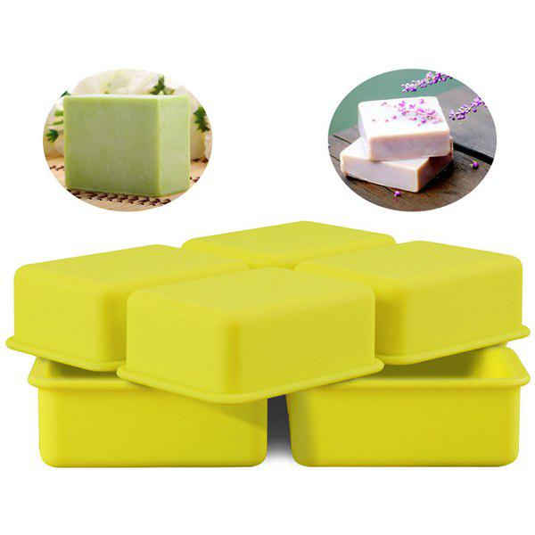 4 Square Food Grade Silicone Hand Soap / Cake Mold - GINGER BROWN