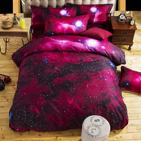 Home Textile Nebula Starry Bedding Set - RED WINE 150X210CM
