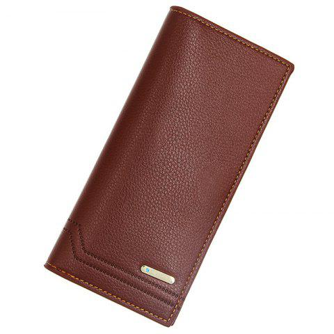 L886 - 4 Long Multi-card Multi-function Small Fashion Business Men's Wallet - BROWN