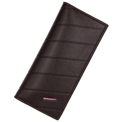 L886 - 4 Long Multi-card Multi-function Small Fashion Business Men's Wallet - COFFEE